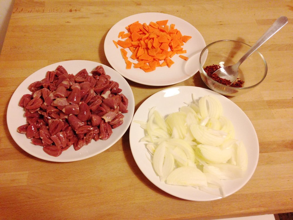 Spicy Chicken Hearts ingredients