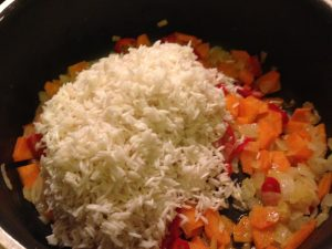 Vegetarian Spicy Rice with Onion and Carrot Veg Recipes Easy